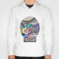 john snow Hoodies featuring Snow Globe by JOHN RUSSELL ABSTRACTS
