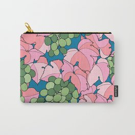 Pink Grapes Carry-All Pouch