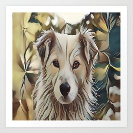 The Catahoula Leopard Dog Art Print