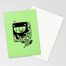 Happy Inside - 1-Bit Oddity - Black Version Stationery Cards