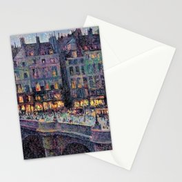 Paris - Le quai Conti along the River Seine by Maximilien Luce Stationery Cards