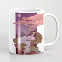 snow white Mugs featuring Snow White by Ann Marcellino
