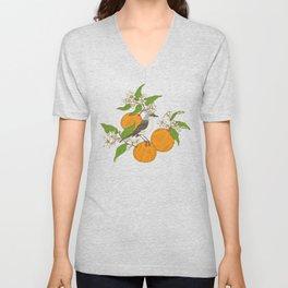 Mockingbird & Orange Blossoms Unisex V-Neck