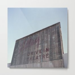 Drive-In Movie Theatre Metal Print