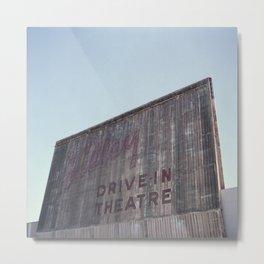 Drive-In Movie Theatre Metal Print