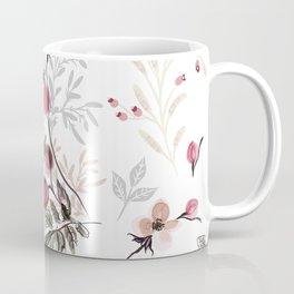 Vintage vector illustration with wild rose berries  Coffee Mug