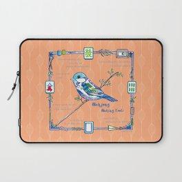 Sparrow Mahjong in Orange Laptop Sleeve