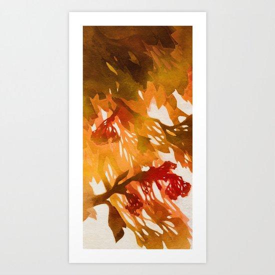 Morning Blossoms 2 - Red Variation Art Print