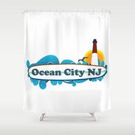Ocean City - New Jersey. Shower Curtain