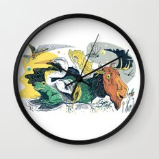 Animals in Nature Wall Clock