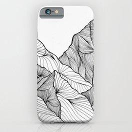 Curving Lines (Mountain Landscape) iPhone Case