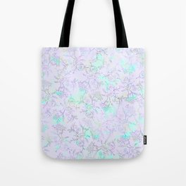 Modern lavender turquoise hand drawn watercolor botanical floral Tote Bag