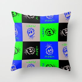 HAPPY Japanese Throw Pillow