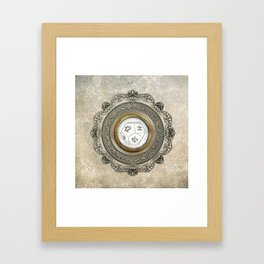 Steampunk D12 Vintage Design Framed Art Print