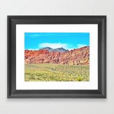 Paint The Hills Red Framed Art Print