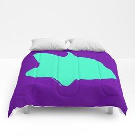 Frenchie Mint on Purple Comforters