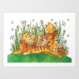 Noah's Ark - Cat Art Print
