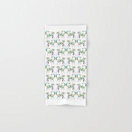 Whimsical Leafly Cat Hand & Bath Towel