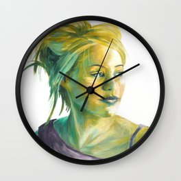 green light portrait Wall Clock