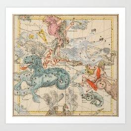 Celestial Map - Andromeda, Pegasus, Cetus (19th Century) Art Print