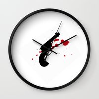gun Wall Clocks featuring Gun by Saleem007