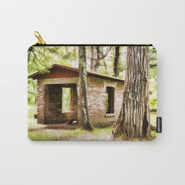 Abandoned brick building in the woods Carry-All Pouch
