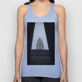 Mather Tower Building Top Chicago Black and White Photo Unisex Tank Top