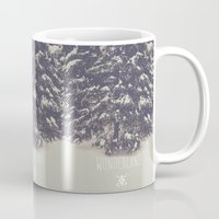 wonderland Mugs featuring Wonderland by Christine VanFonda