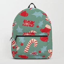 Scandinavian Christmas pattern digital illustration  Backpack