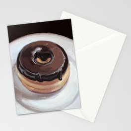 Chocolate Donut Stationery Cards