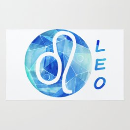 Leo. lion. Sign of the zodiac. Rug