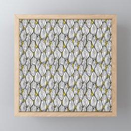 Vagina - Rama, White with Yellow Framed Mini Art Print