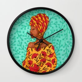 Luisa. Beautiful woman collection Wall Clock