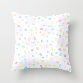 Abstract pastel doodles Throw Pillow