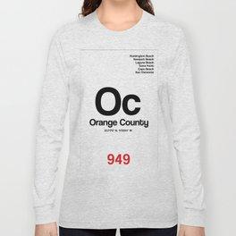 Orange County City Poster Long Sleeve T-shirt