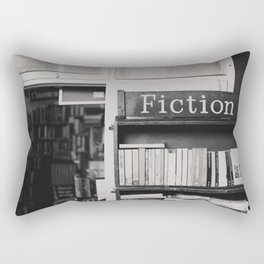 getting lost in a book store Rectangular Pillow