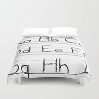 letters Duvet Covers featuring Letters by Bryan Brickley
