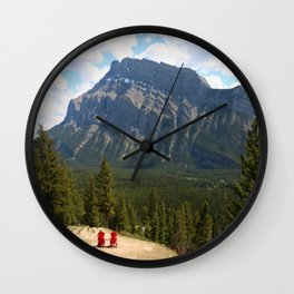 Enjoying The Beautiful View Wall Clock