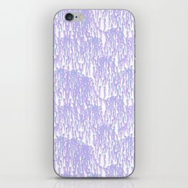 Cascading Wisteria in Lilac + White iPhone Skin