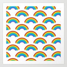 Cute Rainbow Pattern Art Print