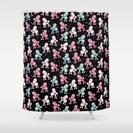 Poodlerama Shower Curtain