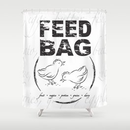 FEED BAG/Black & White Shower Curtain