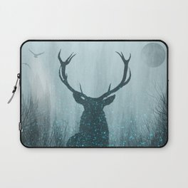 Snow Stag Silhouette Laptop Sleeve