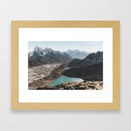 Gokyo Ri overlooking Gokyo Lakes in Everest Region Framed Art Print