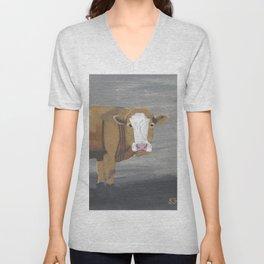 A Heifer Named Serene Unisex V-Neck