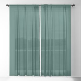 FOREST BIOME dark solid color  Sheer Curtain