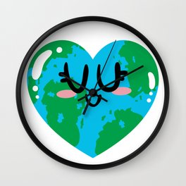 I Love Earth Wall Clock