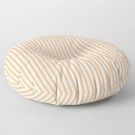 Bright Orange Russet Mattress Ticking Narrow Striped Pattern - Fall Fashion 2018 Floor Pillow