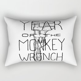 Year of the Monkey Wrench Rectangular Pillow