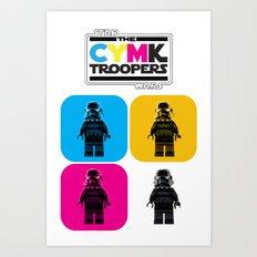 CYMK Troopers Art Print
